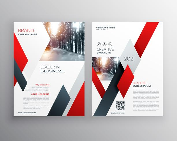 modèle de conception de brochure flyer rapport annuel rouge entreprise dans siz