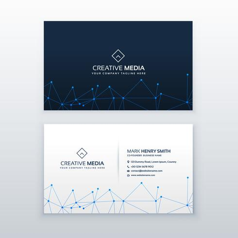 creative business card design with technology wire mesh