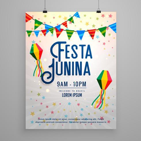 festa junina celebration party invitation template banner