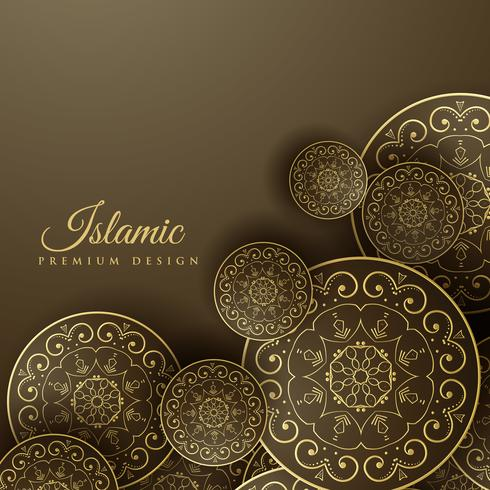 islamic background with mandala decoration