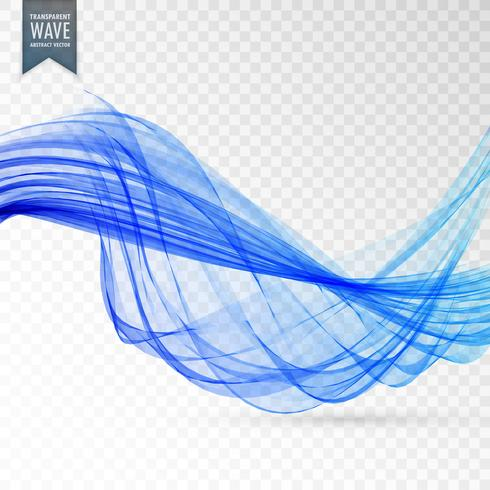 abstract blue wave transparent background design
