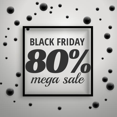 modern black friday offer sale poster with black dots