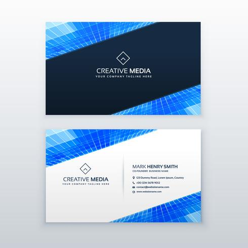 blue business card design vector template