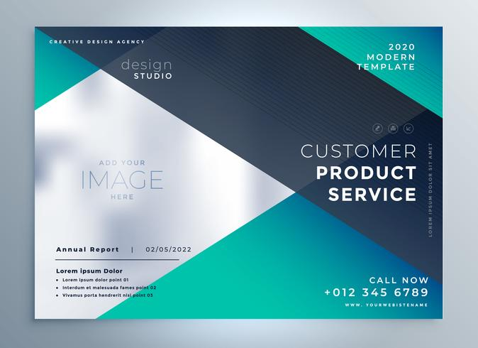 vector business brochure presentation template design - download, Template Presentation Brochure, Presentation templates