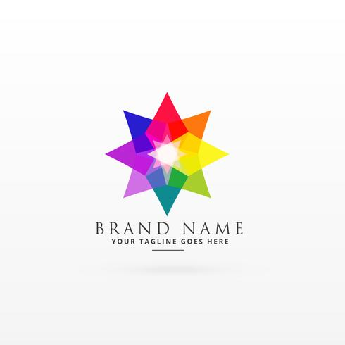 abstract colorful logo design concept