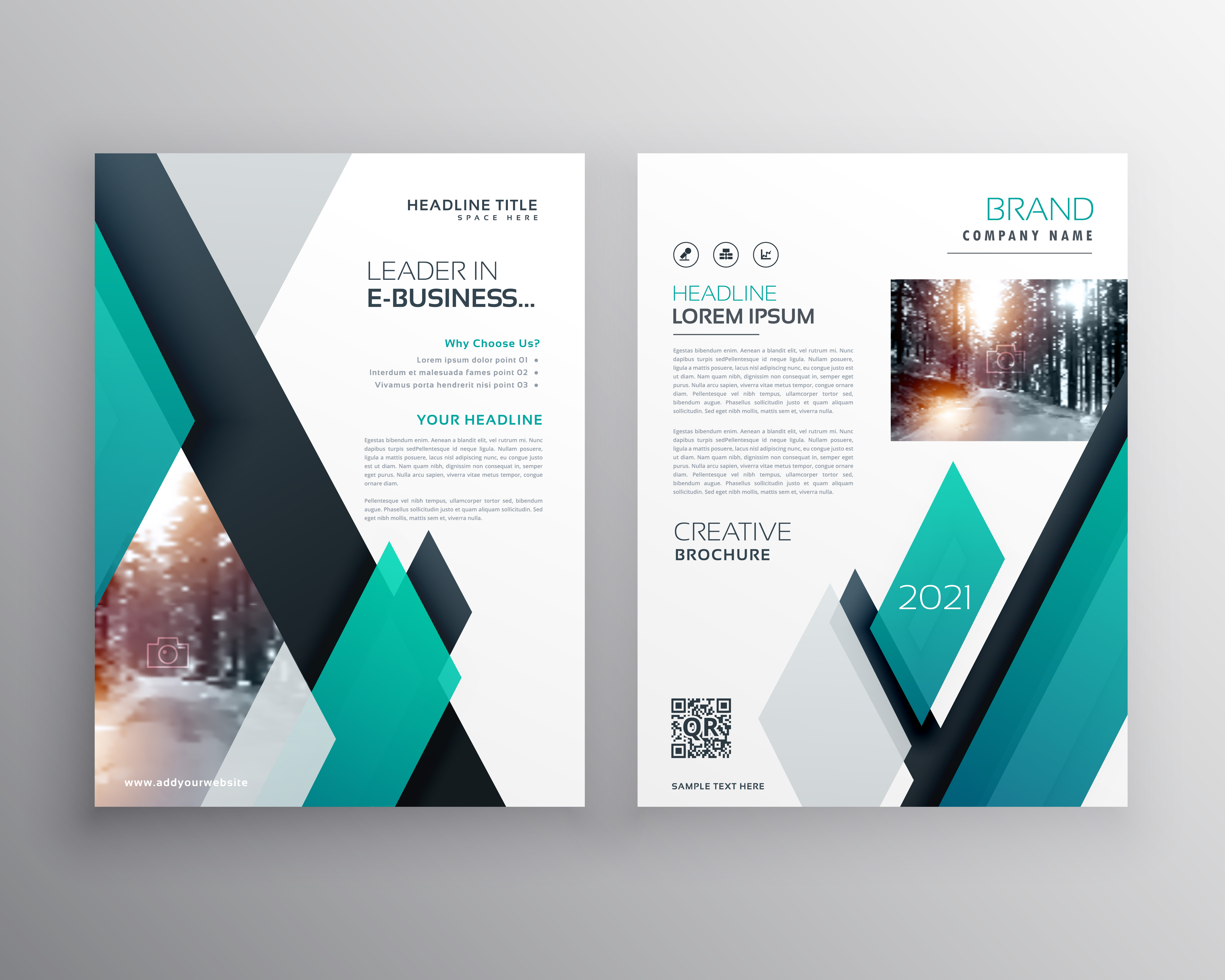 blue brochure template layout cover design for annual