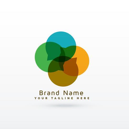 modern chat logo concept design