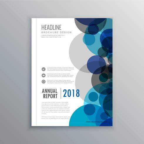 creative brochure flyer design with abstract circles