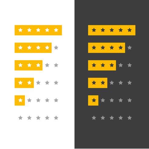 icône de classement par étoiles pour un site Web ou une application