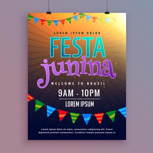 invitation background for festa junina festival design