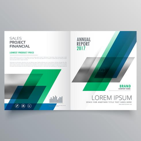 creative professional bifold business brochure design template w