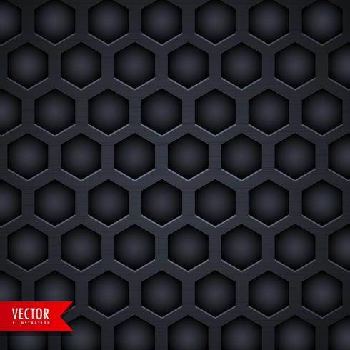 dark hexagonal pattern background design