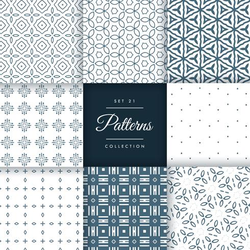 abstract line flower style pattern collection vector design