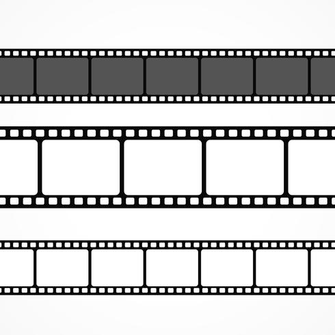 vector film strip collection in different sizes