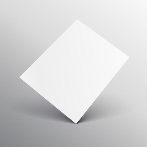 elegant white a4 paper mockup