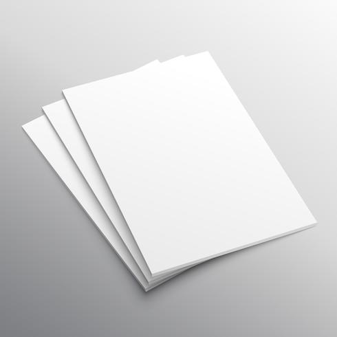 stack of three A4 paper mockup display