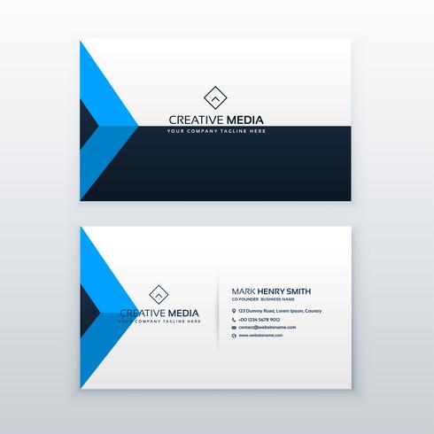 modern clean business card vector design template