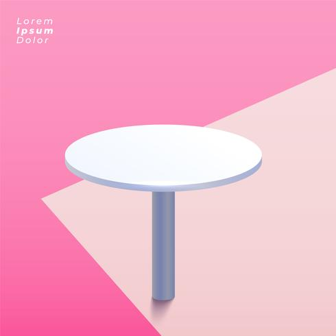 round table on pastel background