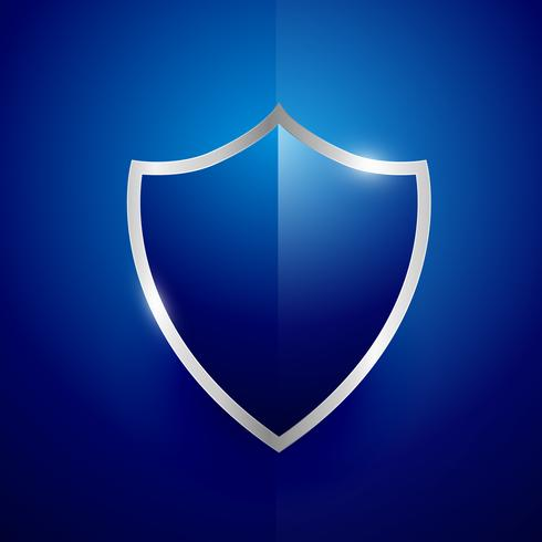 security label badge vector design in blue color