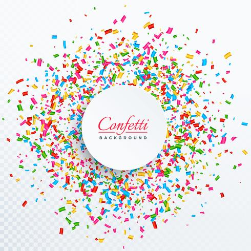 confetti background with text space design