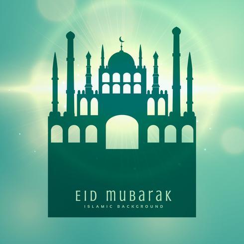 elegant muslim eid festival card design background