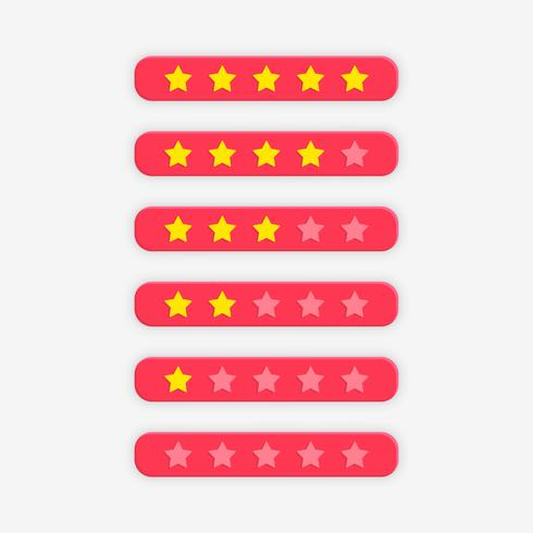 pink star rating symbol for feedback