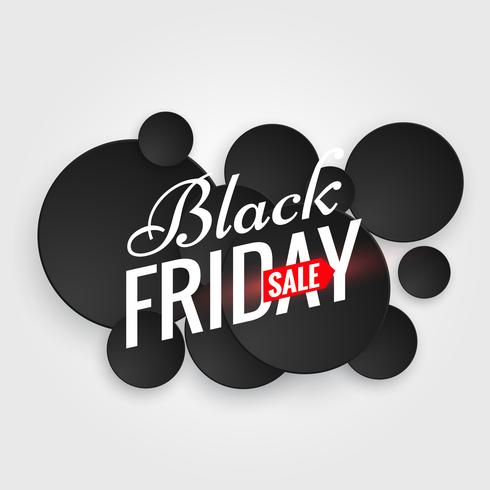 black friday sale poster with multiple black dots