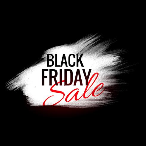 black friday background with white paint stroke