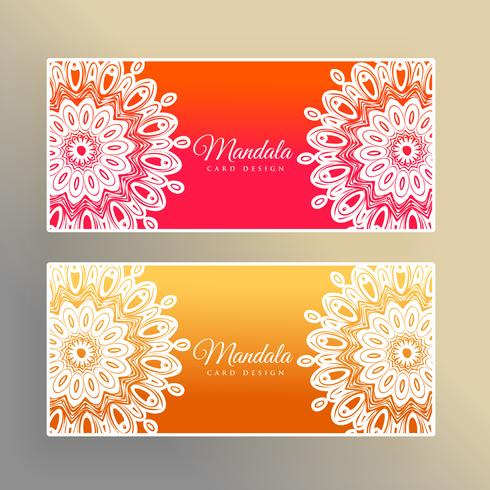 colorful mandala banners decoration background