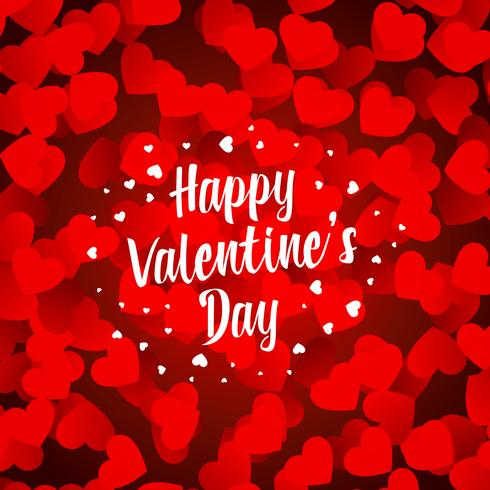 happy valentines day beautiful hearts background