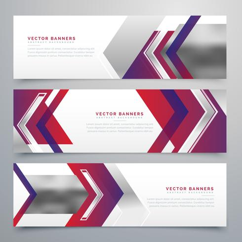 modern business banners design set of three