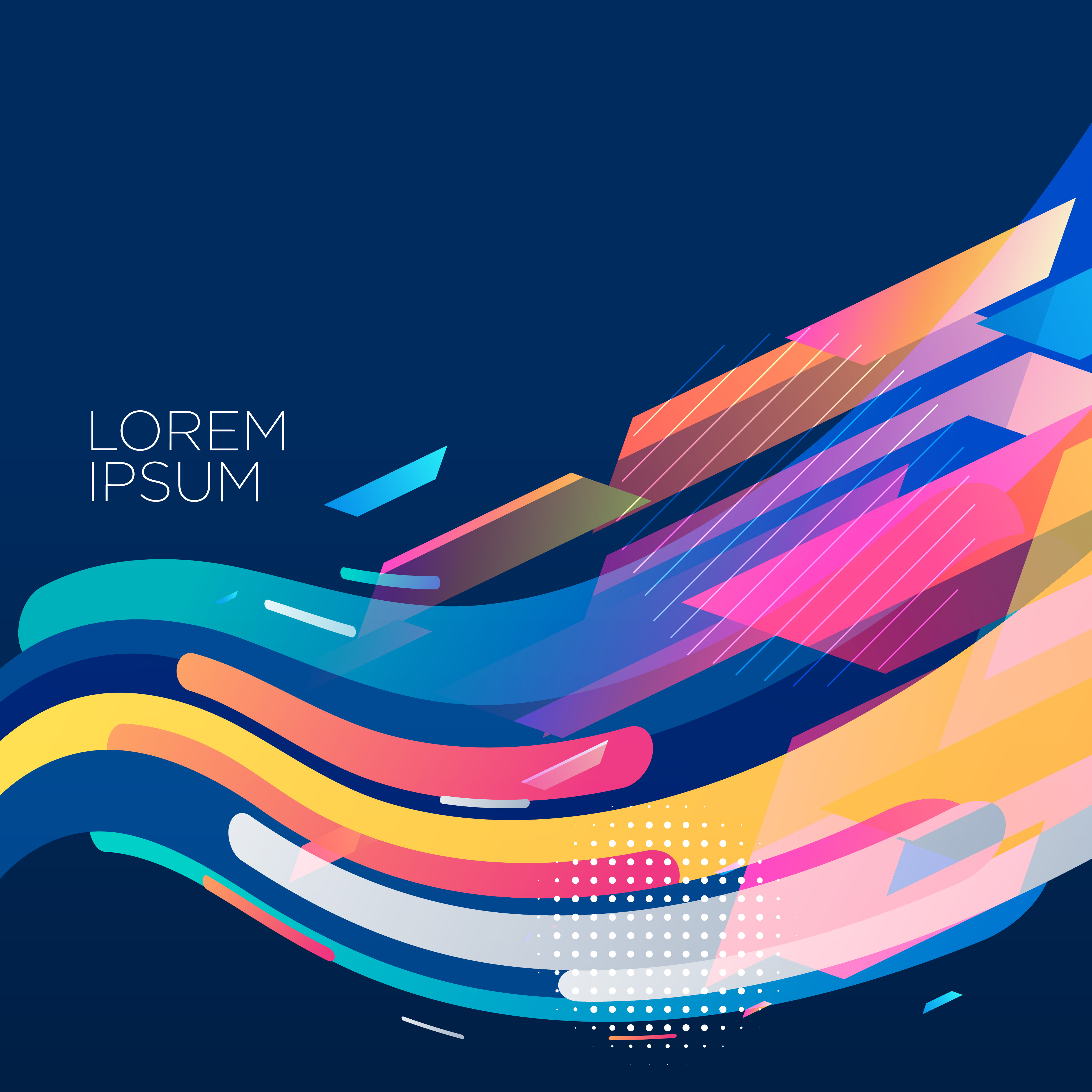 stylish colorful wave background design - Download Free ...