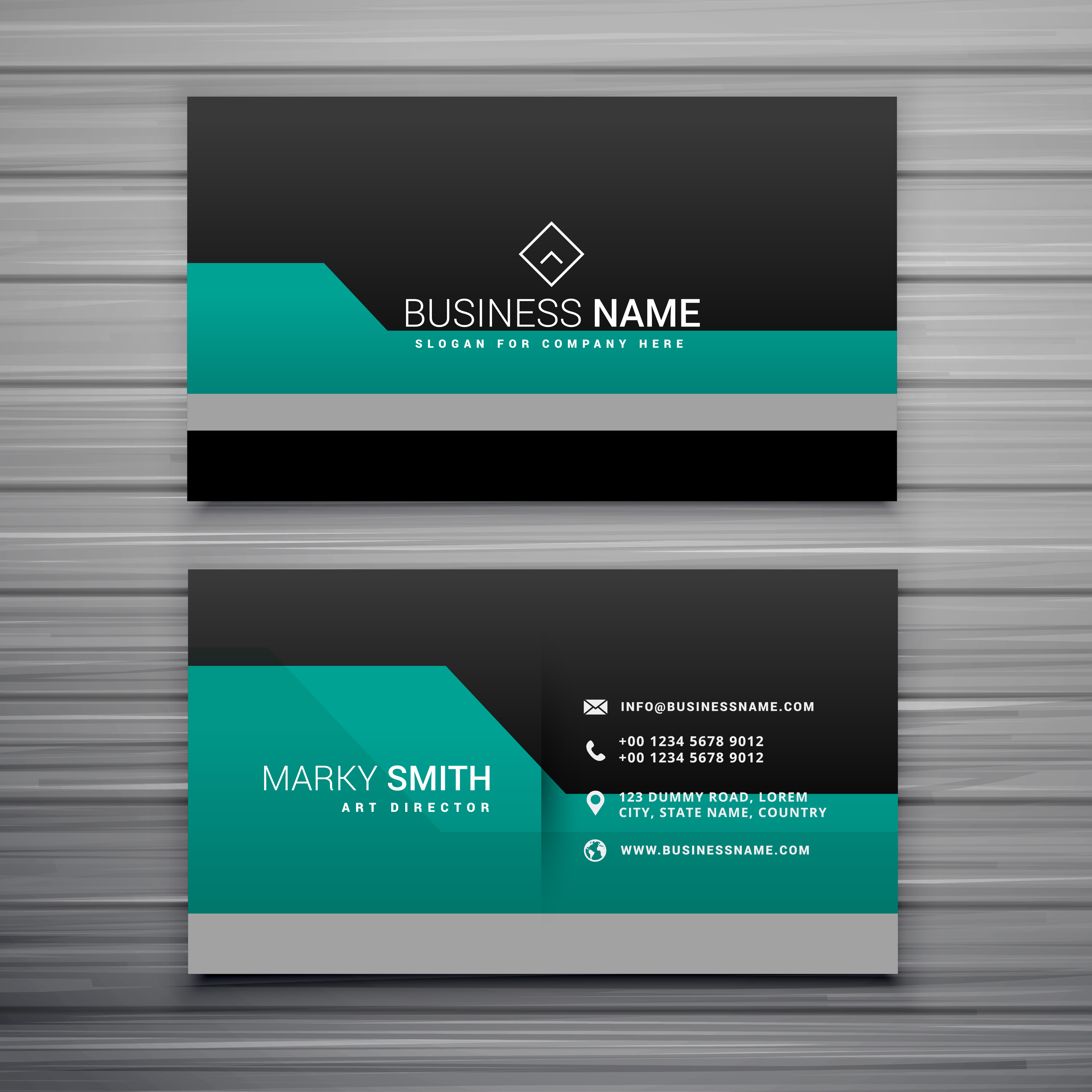 Business Card Layout Template: Elegant Business Card Template Design