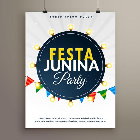festa junina poster design for party event
