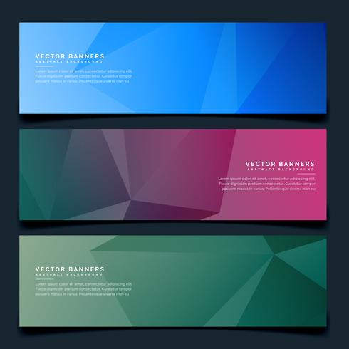 stylish geometric headers set background