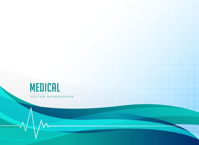 medical healthcare or pharmacy background with heart beat and wa