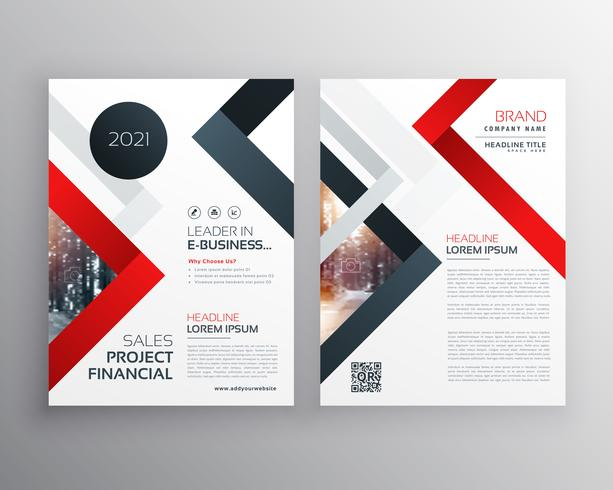 modern business brochure flyer template design