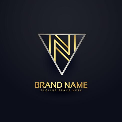 letter N creative logo design template