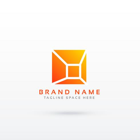 abstract simple geometric logo design