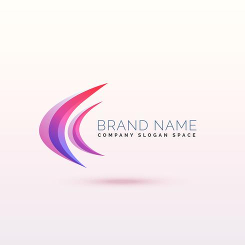 abstract curve logo concept design
