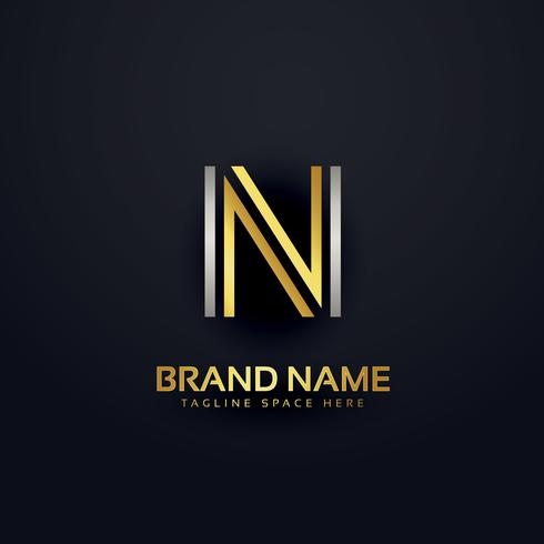 creative letter N logo design template