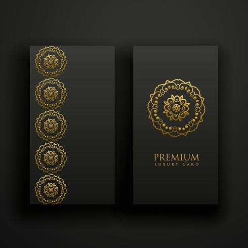 premium dark mandala decoration banners card