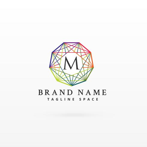 colorful network brand logotype concept design backgorund