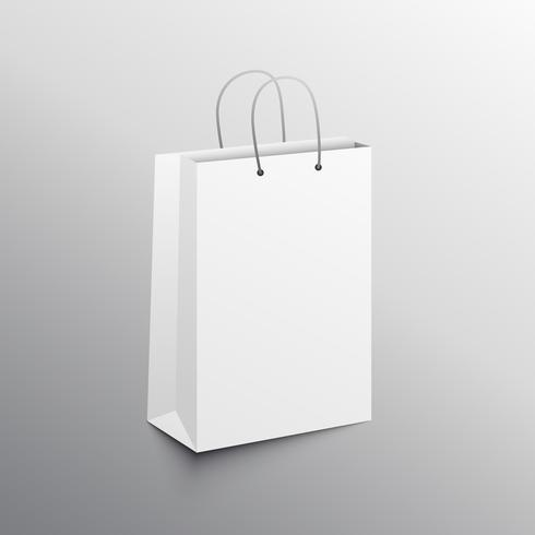 empty shopping bag mockup design template
