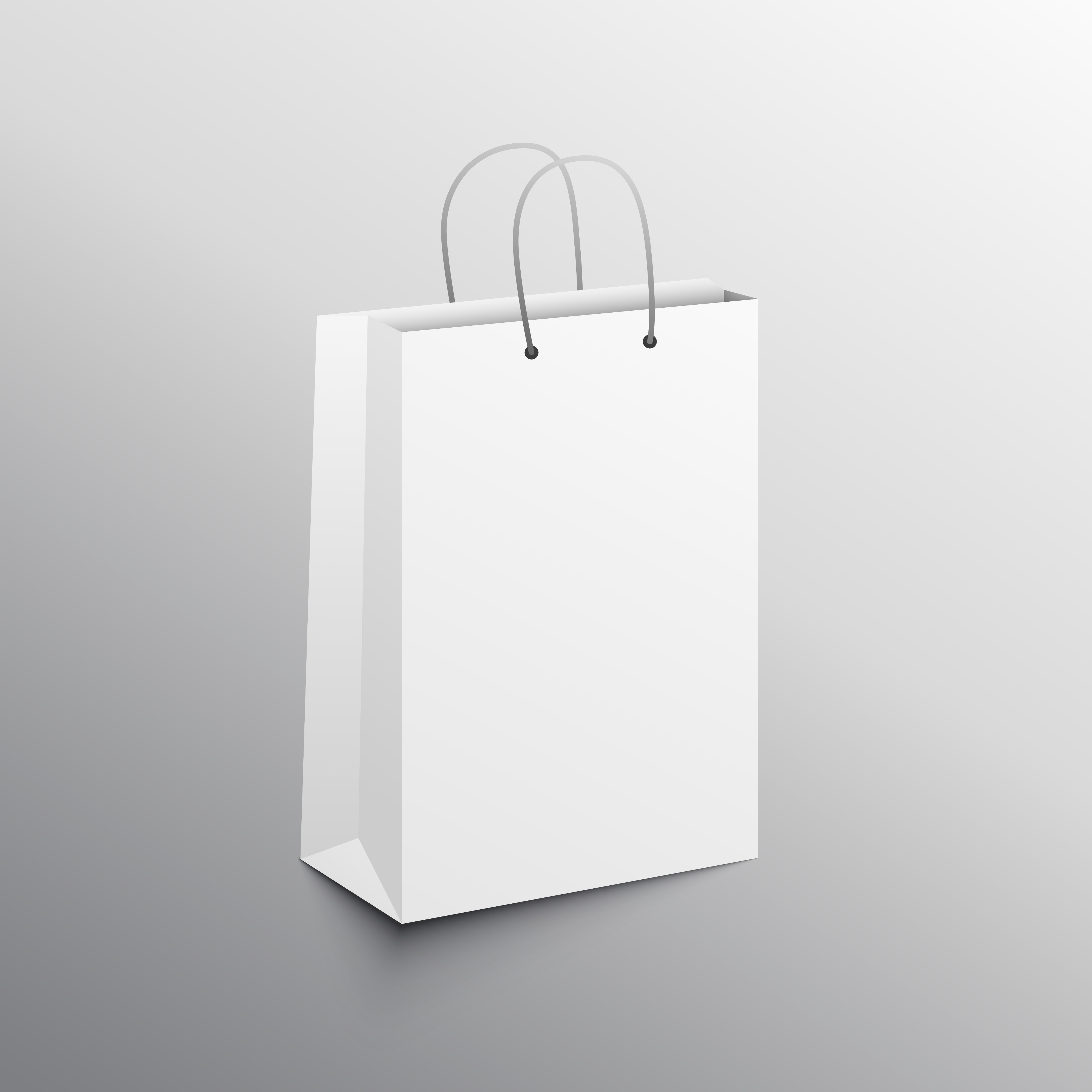 empty shopping bag mockup design template