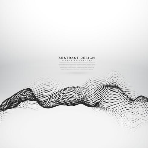 3d digital particles array vector background design