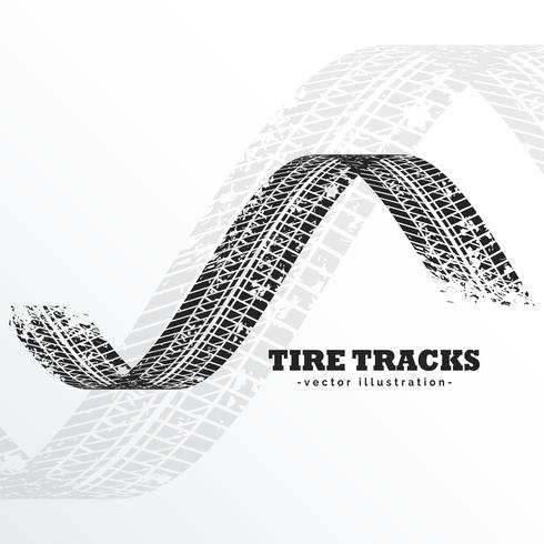 grunge black tire tracks on white background