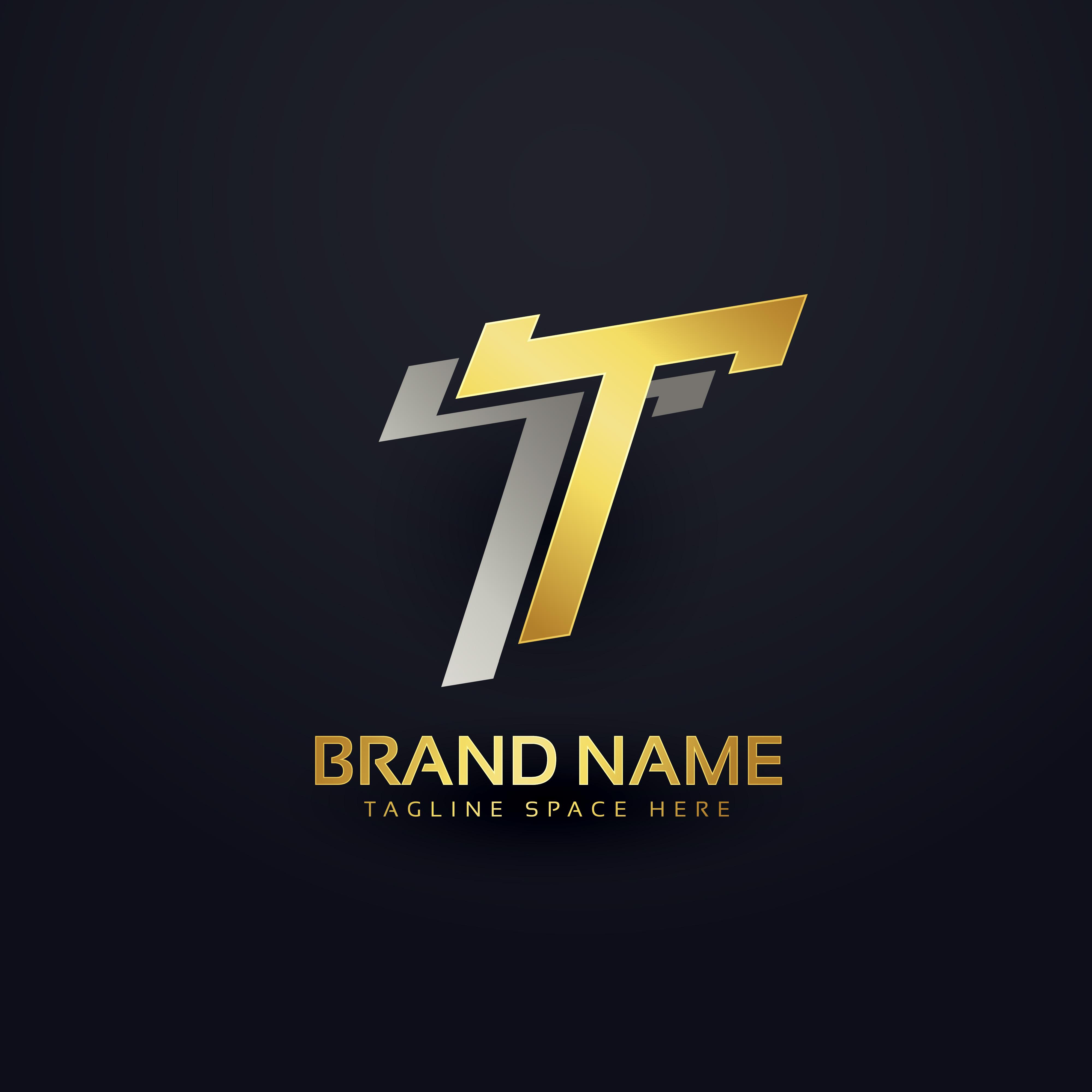 premium letter t logo concept background design download