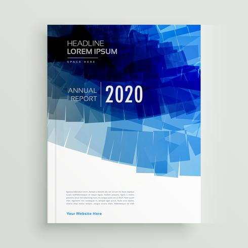 abstract blue brochure template design