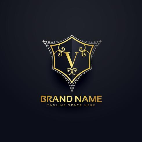Letter V logo design template